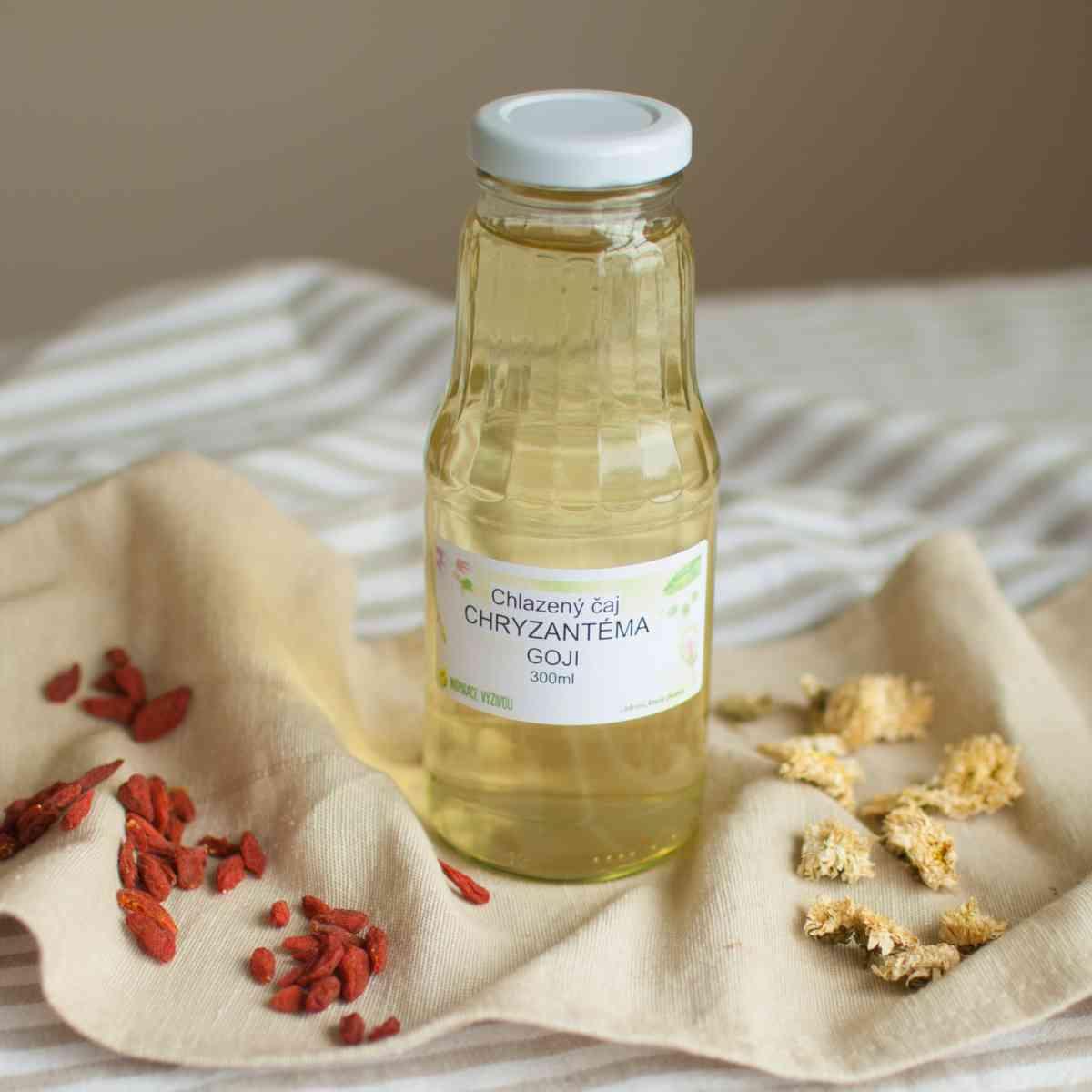 Chlazený čaj Chyzantéma + Goji
